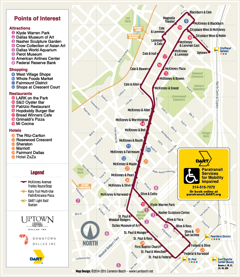 Route-Map – Trolley, McKinney Avenue Transit Authority, M-Line ...